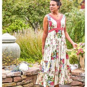 April Cornell Juliette Hostess Floral Maxi Dress